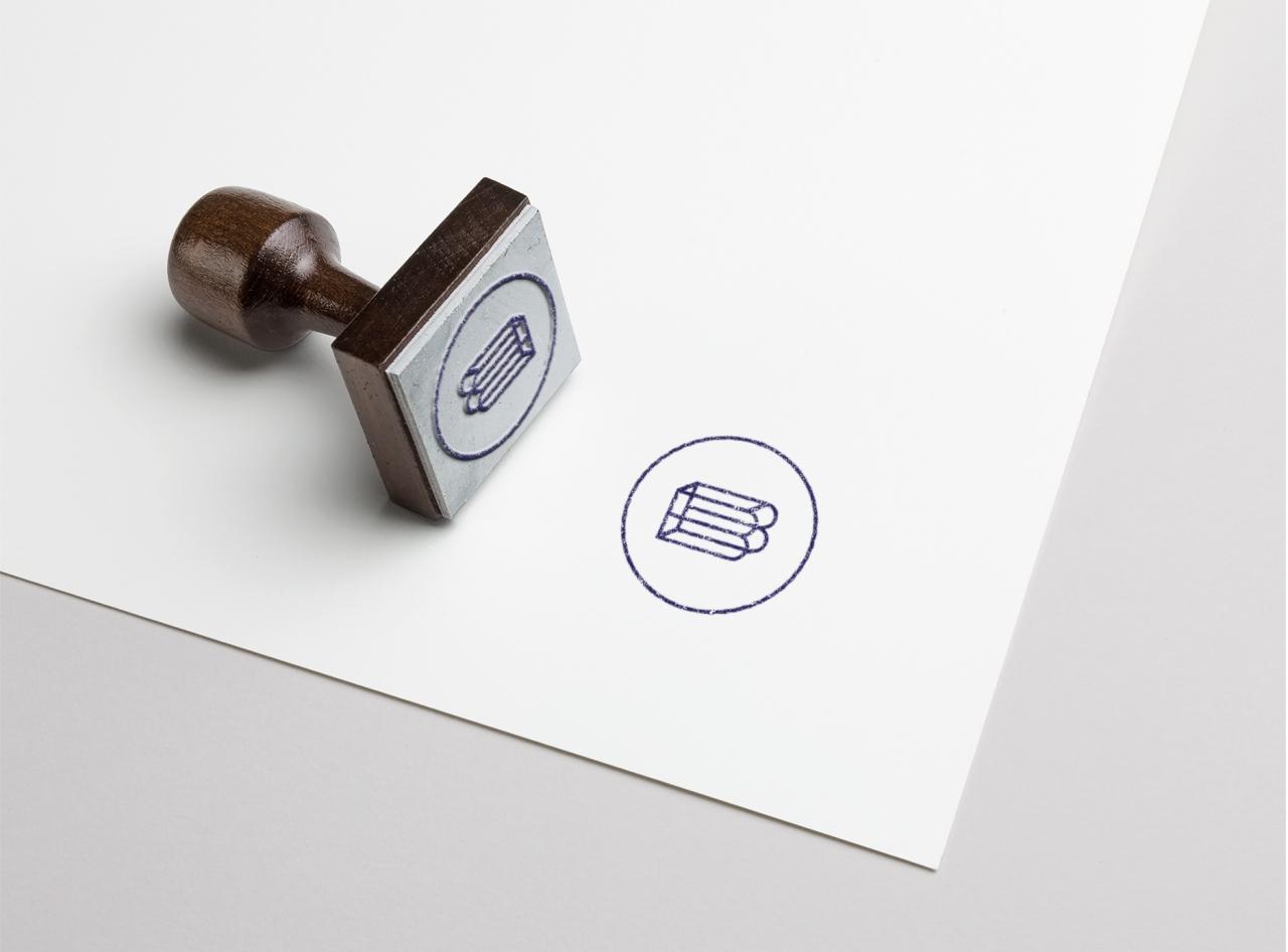 mockup rubber stamp
